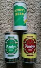 3 ANDYS Minnesota Straight Steel beer cans SCHELL BREWING CO NEW ULM AIR FILLED