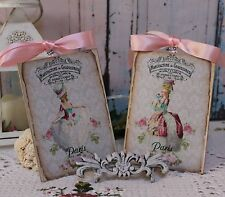 "A set of Two ""Marie..."" Shabby Chic ~ Country ~ Cottage style ~ Wall Decor Sign"
