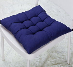 """16x16"""" Waterproof Outdoor Blue Chair Cushion Seat Pads Tie On"""