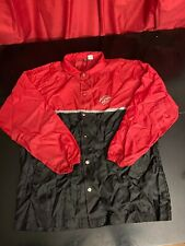 Vintage 90s PIZZA HUT Snap up Windbreaker jacket- Delivery driver uniform LARGE