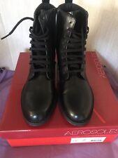 Aerosoles Push Limit Combat Boots Black 8.5 New in Box