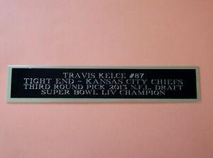 "Travis Kelce Football Card Kansas City Chiefs Display Case Nameplate 1.5"" X 8"""