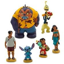 DISNEY AUTHENTIC LILO AND STITCH FIGURE PLAY SET CAKE TOPPER 6 PIECES NIBOX