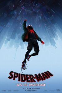 """Spider Man Into the Spider Verse - Movie Poster Art Film Print 36x24"""" 40x27"""""""