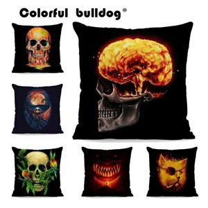 Thriller Personality Skull Pillow Explosion Crow Brain Bird Plant Cushion Cover