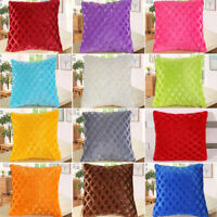 UK Soft Plush Square Pillow Case Sofa Waist Throw Cushion Cover Home Decor ##