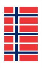 3 - Norway Flag HELMET HARD HAT LUNCH BOX BIKER Cell Phone STICKER HS1023