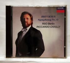 RICCARDO CHAILLY - BRUCKNER symphony no.0 - DECCA CD no IFPI full silver NM