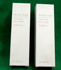 LOT of 2 MARY KAY MOISTURE RICH MASK FORMULA 1, 4 OZ NIB See Pictures