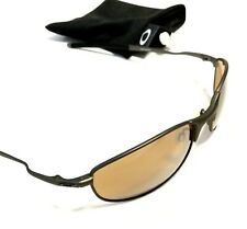 RARE OAKLEY TIGHTROPE SUNGLASSES Pewter Frames w/ Bronze Brown Lenses