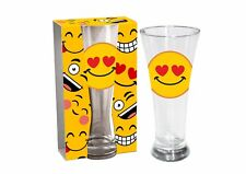 "EMOJI BEER GLASS ""HEARTS"" BIRTHDAY PRESENT GIFT 300ml - EM005"