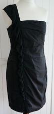 Patrizia Pepe Kleid Das kurze Schwarze Abendkleid Dress Asymmetrisch Gr. 40