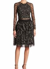 Parker Switch Deco Beaded Skirt Womens 6 Anthro Sequins Cocktail Holiday NWT$396