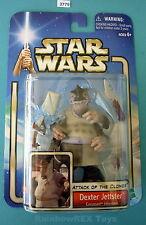 """Star Wars 2002 DEXTER JETTSTER 3.75"""" Figure Mint on Card"""