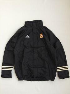 Rare Original Adidas Real Madrid Centenary Rain Coat Training Jacket 2002 Futbal