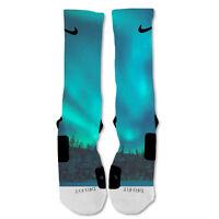 Nike Elite socks custom Galaxy Northern Lights Shoe Blue socks