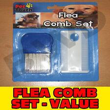 FLEA COMB BRUSH SET EGGS EGG PET DOG CAT KITTEN PUPPY CLEAN HAIR MAGNIFIER TEETH