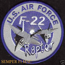 F-22 RAPTOR US AIR FORCE PATCH STEALTH FIGHTER PIN UP PILOT WING CREW USAF WOW