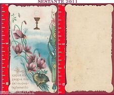 3063 SANTINO HOLY CARD GESù CRISTO EUCARESTIA QUESTO CALICE è ILMIO SANGUE