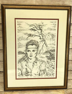 """""""Lake Goddess"""" By Paul Anthony Lee (1988) Drawing 94/350 1st Edition Signed"""