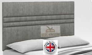 """NEW BED HEADBOARD 20"""" Single Double FOR ALL DIVAN BEDS - CHENILLE FABRIC"""