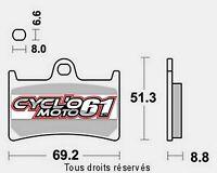 Plaquettes de frein avant Yamaha FZ1 1000 Fazer n/s 2006 à 2015 (S1033)