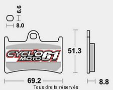 Plaquettes de frein avant Yamaha XP 530 t-max / abs 2012 à 2016 (S1033)