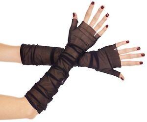 ToBeInStyle Women's Mesh Fingerless Gloves