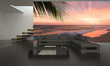 Sunset on the Beach Wall Mural Photo Wallpaper GIANT DECOR Paper Poster