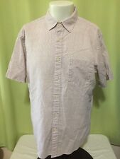 Uniqlo Men's Red Checks SS Button Front Shirt Size XL