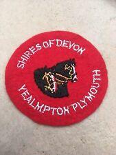 Souvenir cloth Patch, Badge - SHIRES OF DEVON, Yealmpton, Plymouth