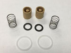 (2) HOLLEY DOUBLE PUMPER CARBURETOR SINTERED BRONZE FUEL FILTER KIT SEAL SPRING