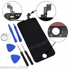 Black LCD Screen Replacement Digitizer Glass Assembly For iPhone 5S with tools