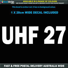 UHF 27 Troopcarriers of Australia Call Channel Decal 28cm Wide #TOA016