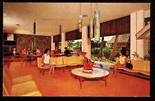 c1960 interior Lobby Kauai Surf Hotel Kalapaki Beach Kauai Hawaii postcard
