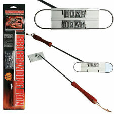 NEW BBQ BRANDING IRON & CHANGEABLE LETTERS BARBECUE NAMES TOOL STEAK OUTDOOR FUN