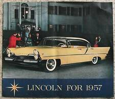 Lincoln PREMIERE gamme USA CAR sales brochure 1957