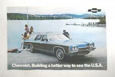 1972 CHEVROLET WAGONS ORIGINAL DEALERSHIP SALES & CAR INFO POSTER MINT NEW!