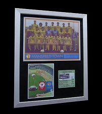 MANSFIELD TOWN 1987 FREIGHT ROVER CUP FINAL LTD FRAMED+EXPRESS GLOBAL SHIPPING