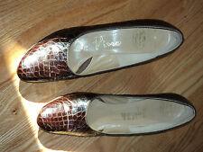 Mad de MaN! Luxury! De Vino Brown Alligator ! 8 1/2 Aa Gold Authentic. Bally?
