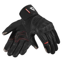 GUANTI GLOVE REV'IT DIRT 2 NERO ESTIVO PELLE TOURING PROTEZIONI TG L