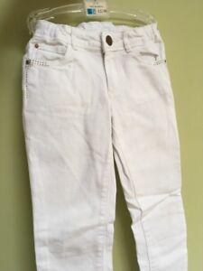 ZARA Girls White skinny / Slim Fit Jeans 5-6 years ⭐️immaculate⭐️