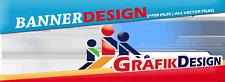 3x bannière Design au choix création statique bannière graphiques incl. psd files