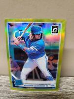 2019 Donruss Optic VLADIMIR GUERRERO JR. Lime Green Prizm Rated Rookie RC #64
