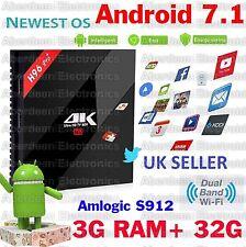 3GB/32G H96 Pro+ Android 7.1 TV BOX Amlogic S912 Octa Core  4K KODI 17