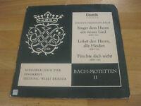 LP J.S. Bach Singet dem Herrn  BWV 225 Bach Motetten II Vinyl CAMERATA 30010