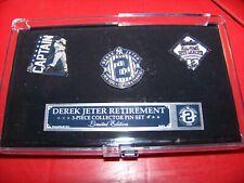 Derek Jeter NY New York Yankees lapel 3 pin retirement set pins
