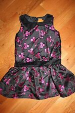 NWT Gymboree Holiday Gems Size 5 Black Pink Flower Party Dress