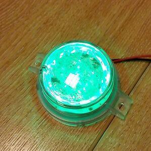 JW Speaker Green LED Strobe Lamp 24-36v Emergency Vehicle Lighting 0645332