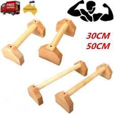 2PCS Wooden Parallettes Gymnastics Calisthenics Handstand Bar Fitness Training